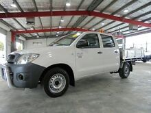2009 Toyota Hilux TGN16R MY08 Workmate White 5 Speed Manual Utility Welshpool Canning Area Preview