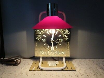 Budweiser King of Beer Indoor Electric Lighted Bar Sign and Working Clock