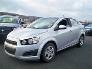 $75 BI WKLY OAC! 2012 Chevrolet Sonic LT+ WINTER TIRES !