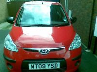 Low mileage Hyundai I10, Red, 5 Door, Pristine Condition, 1 Lady Owner, Petrol, Full Service History