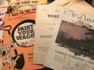 FOR SALE: BOX OF VINTAGE SHEET MUSIC,MUSIC BOOKS, (SOME ANTIQUE)