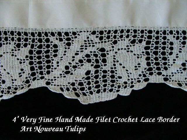 """FAB Antique Linen Lace Tablecloth 44"""" English Tea Cloth Hand Made Lace PRISTINE"""