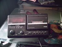 ross radio and tape alarm clock rare ,80,s old collectable