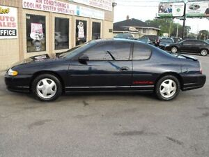 REDUCED   2001 MONTE CARLO SS  83000 KMS  ONE OWNER  !!