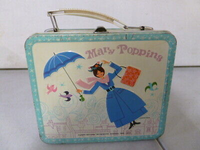 1964 Aladdin Mary Poppins Metal Lunchbox with Thermos