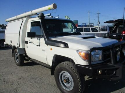 2012 Toyota Landcruiser White Manual Cab Chassis Pakenham Cardinia Area Preview
