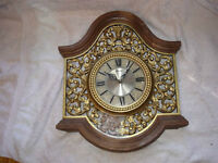 Shabby Chic Vintage 1967 Syroco Wall Clock AS IS,For Prop/Repair