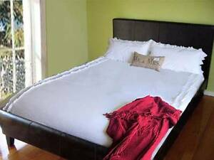 5 New LEATHER QUEEN BED + MATTRESS CAN DELIVERY Box Hill Whitehorse Area Preview