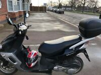 Scooter Senis Matrix 2, 125cc with top box in good condition low milage for sale.