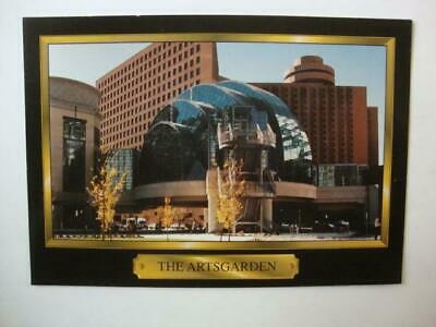 812) INDIANAPOLIS INDIANA SKYLINE ~ THE AWESOME ARTS GARDEN ~ CIRCLE CENTER (The Gardens Mall)