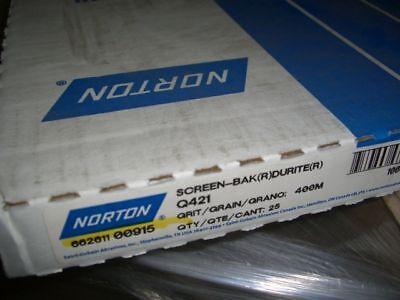 25 New Norton 9 X 11 Drywall Sanding Mesh Sheets Screens Grit 400m Edp 00915