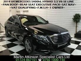 2014 64 Mercedes-Benz S-Class S400h Hybrid 3.5 V6 SE Line LWB Long Wheel Base