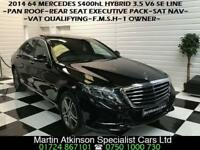 2014 64 Mercedes-Benz S-Class S400h Hybrid 3.5 V6 SE Line LWB Long Wheel Base