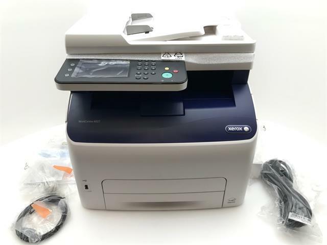 Xerox Color Laser Printer Scanner MFP 6027/NI Wireless Copier WiFi Network USB