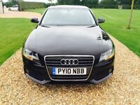 Audi A4 2.0 TDI 2010 Black Exellent condition Full service history **Only 57000 Miles**