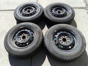 4 Motomaster Tires with Rims for Toyota Camry 195/70/14