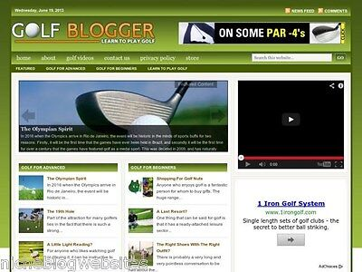 Golf Lessons Clubs Courses Resource Tips Blog Site For Sale