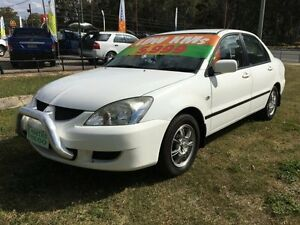 2005 Mitsubishi Lancer CH LS White 4 Speed Automatic Sedan Clontarf Redcliffe Area Preview