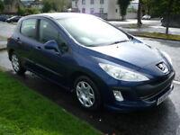 Peugeot 308 1.6 S HDI 90BHP **Full Service History** (blue) 2008