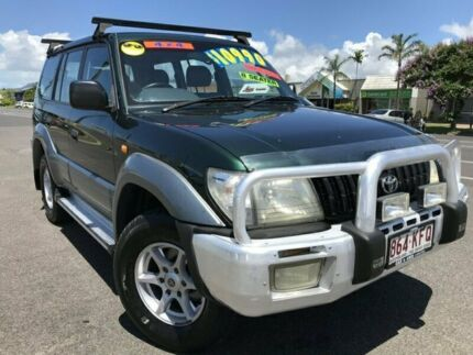 2000 Toyota Landcruiser Prado VZJ95R GXL Green 4 Speed Automatic Wagon Westcourt Cairns City Preview