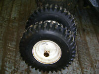 snowblower tires and rims like new 3/4 inch shaft $ 40.00  set