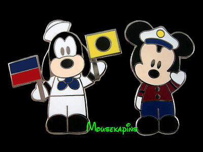 Goofy Sailor (CAPTAIN Mickey & SAILOR Goofy Semaphore FLAGS Disney Cruise Line 2008 [2] Pin)