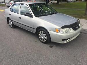 2001 TOYOT COROLLA  , AUTOMATIQUE , AIR CLIMATISE, 1.8 LITRES