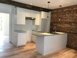 2BDR renovated w/ parking and garden canal griffintown downtown