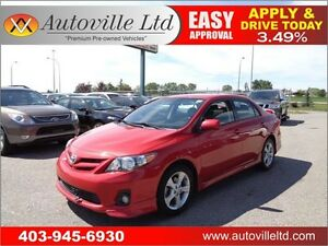 2012 Toyota Corolla S, Leather, Nav Sunroof, Everyone Approved