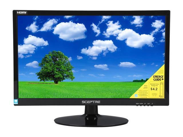 """SCEPTRE E225W-1920 Black 22"""" 5ms HDMI Widescreen LED Backlight LCD Monitor"""