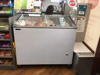 Tefcold Tub Ice Cream Display Freezer With Canopy