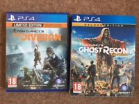 """PS4 - Tom Clancy """"The Division"""" (Limited Edition) & """"Ghost Recon"""" (Deluxe Edition)"""