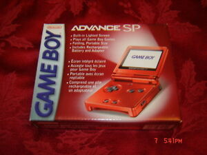 GAMEBOY ADVANCE SP RED FLAME COMPLET AVEC BOITE NINTENDO