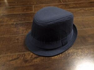 Children's Place Boy's Navy Fedora Hat - Size 4-6 (Small)