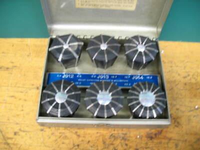 Metricjacobs Rubber Flex Collet Set 6.4mm-25.4mm Wmetal Case Xlnt