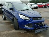 BREAKING FOR PARTS FORD KUGA ZETEC 2015 2.0 TDCI 150 BHP IN DEEP IMPACT BLUE