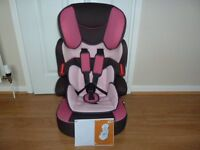 baby child car seat safety booster group 1/2/3 9-36 kg 9 mths-12 yrs grey pink