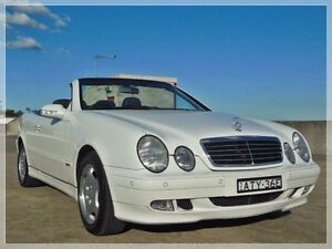 2002 Mercedes-Benz CLK320 A208 Elegance White Automatic Cabriolet North Curl Curl Manly Area Preview
