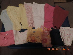 Girl's 0-3months Leggins, Shorts, Tops, Jackets & Diaper Covers
