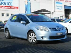 2011 Toyota Corolla ZRE152R MY11 Ascent Blue 6 Speed Manual Hatchback Tuggerah Wyong Area Preview