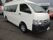 2009 Toyota Hiace KDH223R MY10 Commuter High Roof Super LWB White 4 Speed Automatic Bus Oakleigh Monash Area Preview