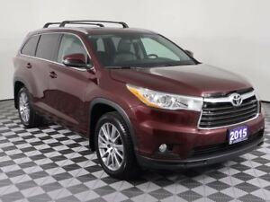 2015 Toyota Highlander XLE w/NAVI, LEATHER, SUNROOF, NEW TIRES A