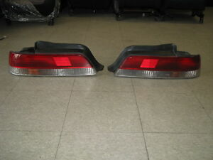 Honda 97-01 Prelude Tail Lights Brake Stop Rear Lamp Red Clear