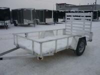 QUALITY ALL ALUMINUM UTILITY TRAILER 5 X 10' - CLEARENCE PRICING