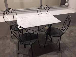Marble Top Outdoor Table and Chairs (4) Perth Perth City Area Preview