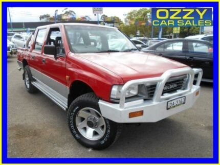 1996 Holden Rodeo TFG6 LX (4x4) Red 5 Speed Manual 4x4 Crew Cab Pickup