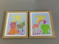 2 pictures - ideal for nursery or children's room