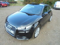 Audi A1 1.6 TDI SPORT 105PS. Free Road Tax, (black) 2011