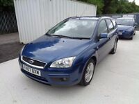 FORD FOCUS 1.8 GHIA 2007 PETROL 93,000 MILES 5 DOOR ESTATE BLUE MOT: 09/07/17 EXCELLENT CONDITION