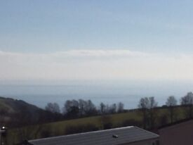 Sea View Static caravan for sale NO AGE LIMIT Near polperro Cornwall NOT devon somerset bristol par